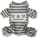 Gray Striped Hund Pyjamas | DiivaDog.se