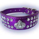 Hund Halsband | Fairytale Princess Purple | Frambredd Hundhalsband För Känslig Hals