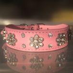 Hund Halsband Diamond Flower Pink   För Hund och Katt