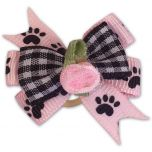 Hund Rosett Paws-On-Pink
