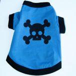 Hund T-shirt Skull Blue   Hundtröja Känslig Hudbomull, DiivaDog