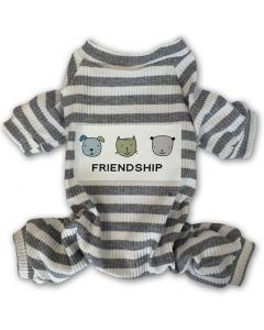 Gray Striped Hund Pyjamas | DiivaDog.se