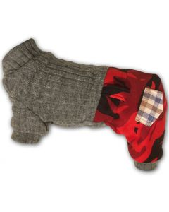Hund Overall Soft Jumpsuit Camo Red | Plysch Fodrad