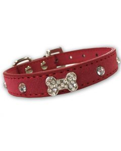 Hund Halsband | Diamond Bone Rosa