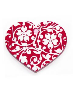Namnbricka Floral Heart Red