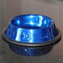 Matskål Metallic Blue 16cm ny
