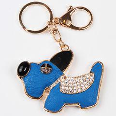 Charm Nyckel Smycke Blå Hund