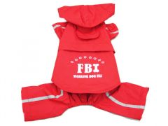 Hund Regnoverall FBI Red  2-in-1