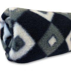 Fleecefilt  Black White Salmiak för Hund eller Katt | DiivaDog.se