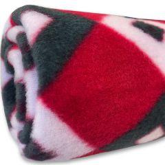Fleecefilt Sweet Red Salmiakki för Liten Hund eller Katt | DiivaDog.se