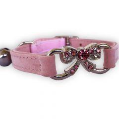 KattHalsband Diamant Båge Rosa | av Mjukt Sammet