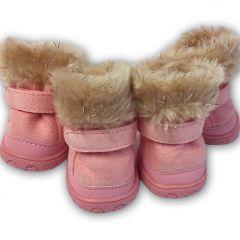Hund Winter Booties, Arctic Pink Boots Hundskor | Skyddsskor för hund och Katt