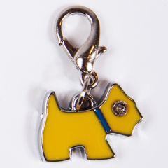 Hund charm Mini Yellow Terrier för hundens halsband eller koppel