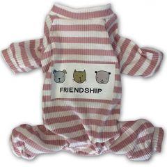 Rose Striped Hund Pyjamas   DiivaDog.se