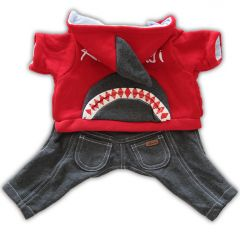 Hund Kläder | Hund Overall Shark High Five!