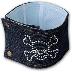 Hanhundsskydd, Markeringsskydd för Hunden, Diamond Skull Jeans, DiivaDog
