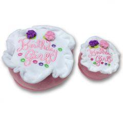 Födelsedag Hund | Hund Mjukleksak Pink Tårta | Plysch Hundleksak Birthday Girl