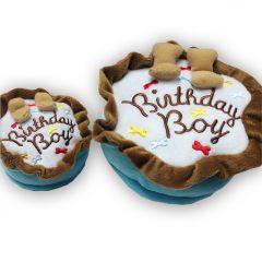 Födelsedag Hund | Mjukleksak Blå Tårta | Plysch Hundleksak Birthday Boy