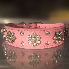 Hund Halsband Diamond Flower Pink | För Hund och Katt