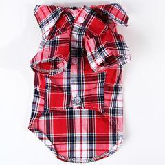 Hundens röd-rutig skjorta  DiivaDog
