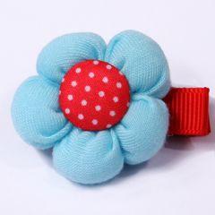 Hund hårsmycke ljusblå blomma