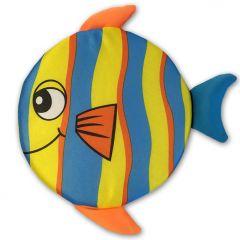 Flytande Frisbee Happy Fish Blue För Hunden | DiivaDog.se