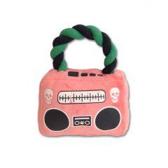 Hund Mjukleksak Pink Pirate Radio | Leksak for Hunden | Lätt att ta med