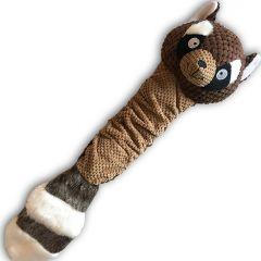 Hund Mjukleksak Raccoon | Squeaky Toy | Total längd ca 47 cm