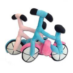 Hund Mjukleksak Bicycle | Hund Leksak med squeaky på framhjulet!  Två färger Pink och Blå