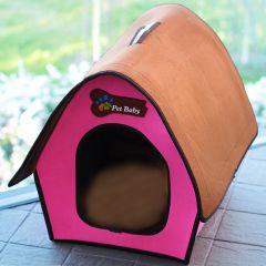 Hundbädd | Kattbädd | Villa Pet Pink Swiss Cottage | Egen liten hus för hund eller katt | Hund stuga | Vikbar