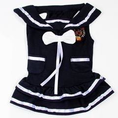 Hund kjol, hund skjort, hundens sommar kjol, Sailor Girl, DiivaDog