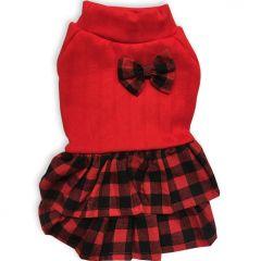 Hund Kläder | Varm Mjuk Hund Kjol Scottish Red