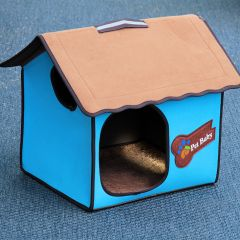 Hundbädd | Hundkoja Villa Dog Blue Classic | Kattkoja