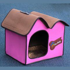 Hundbädd Stuga, Villa Dog Pink Avantgarde,  för hund eller katt, DiivaDog