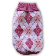 Hundens Stickad Tröja MurrBerry Classic Ljus Pink , DiivaDog
