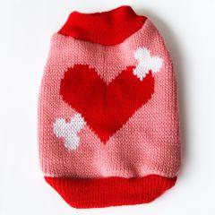 Hundens Stickad Tröja LoveBone Cupido Pink, DiivaDog
