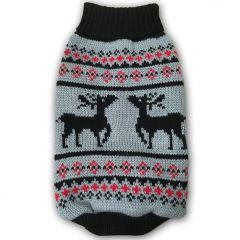 Hund Kläder | Hund Tröja | Hundens Stickad Tröja Original Reindeer Grey