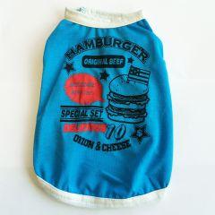 Hund T-shirt Hamburger Blue | Solskydd Känslig Hund Hud