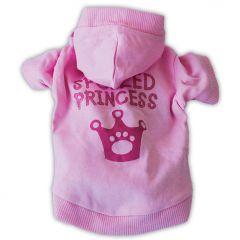Hundhoodie Pink Princess Huvtröja | Hundtröja DiivaDog