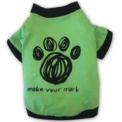 Hund T-shirt Paws On Green | Hundtröja till små Hundar