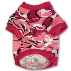 Hundens T-shirt Camo Pink Off-Road  DiivaDog