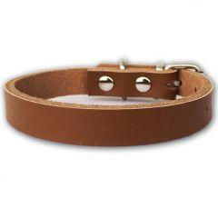 Hundhalsband Läder | Katthalsband | Valphalsband Leather Brown Minimalistic