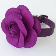 Hundhalsband Purple Rose