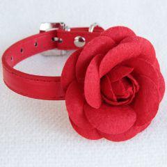 Hundhalsband Red Rose, Party-halsband för hund och katt, DiivaDog