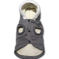 Hundhoodie Huvtröja Love Gray Fleece & Knit | Passar för lite bredare kropp