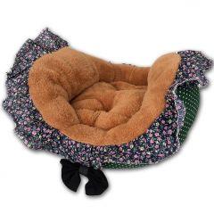 Hundbädd | Kattbädd | Green Flowerbed Frill