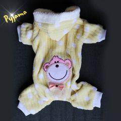 Hund Kläder, Pyjamas | Gul Smiling Teddy Bear