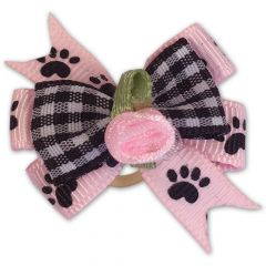 Hund Rosett Paws-On-Pink