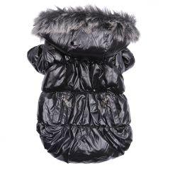 Hundtäcke Heavy Metal Black Jacket | Hundjacka för Vinter