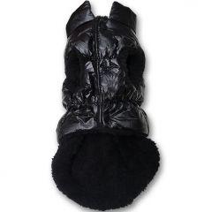Hund Kläder | Hundens Väst All Black | Vinter Väst för Hunden | Fuktresistent Yta | Fleecefoder